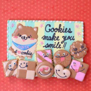 愛犬自慢のアイシングクッキーのプレゼント
