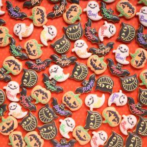 ハロウィンのアイシングクッキープチギフト