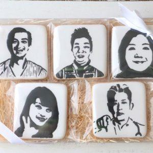 似顔絵のアイシングクッキーを通販でお届け