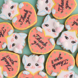 お店の販促用のお菓子やノベリティ品のアイシングクッキー