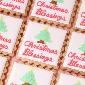 クリスマスツリーのアイシングクッキー