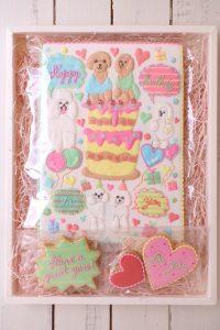 友達の誕生日プレゼントのかわいいアイシングクッキー