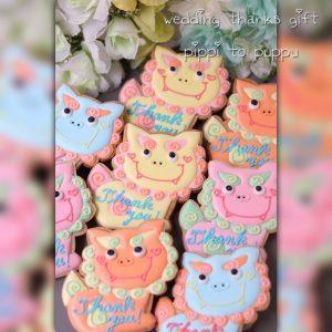 結婚式のプチギフトやサンキューギフトのアイシングクッキー